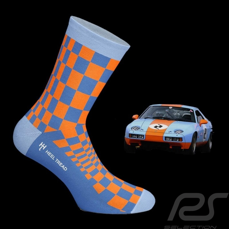 928 GT Pasha socks Gulf blue / orange - unisex