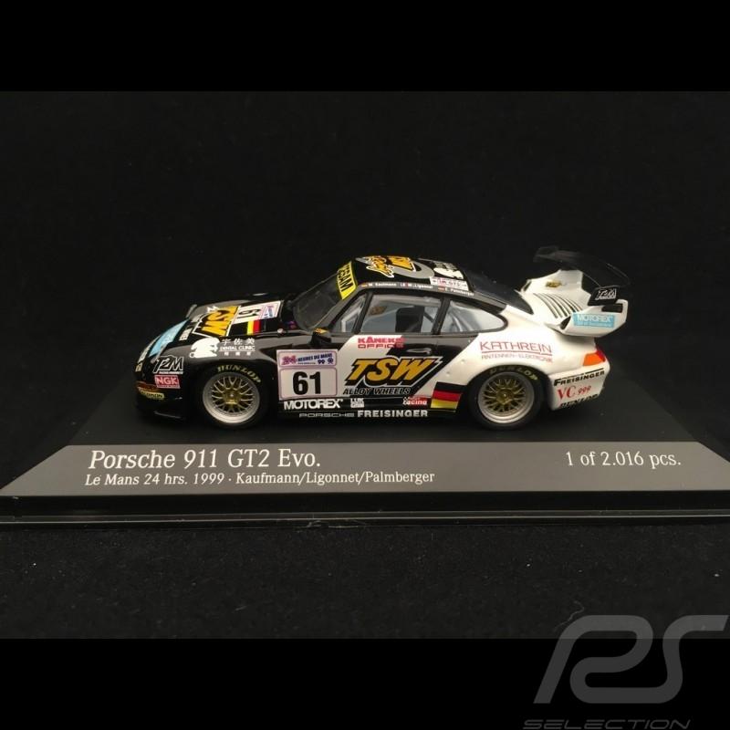 Porsche 911 GT2 Evo 993 n° 61 Freisinger 24h Le Mans 1999 1/43 Minichamps 430996761