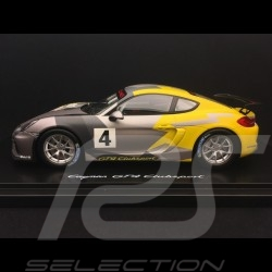 Porsche Cayman GT4 Clubsport 2016 grey / yellow 1:18 Spark WAP0219010G