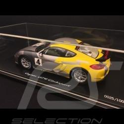 Porsche Cayman GT4 Clubsport 2016 gris / jaune 1:18 Spark WAP0219010G