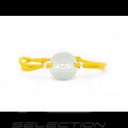 Bracelet RS Série limitée finition Argent cordon de couleur jaune yellow gelb racing Made in France