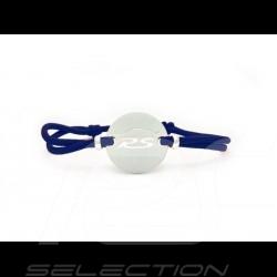 Bracelet RS Série limitée finition Argent cordon de couleur bleu blue blau France Made in France