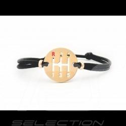 Bracelet Gearbox finition Or cordon de couleur noir black schwarz Made in France