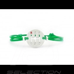 Bracelet Gearbox finition Argent cordon de couleur vert green grün Made in France