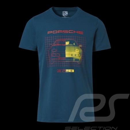 T-shirt Porsche 928 Boîte collector Edition limitée Porsche WAP425KHPK mixte bleu pétrole petrol blue petrolblau