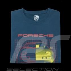 Porsche 928 T-shirt Petrol blue Collector box Limited Edition Porsche Design WAP425KHPK - unisex