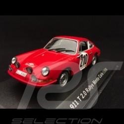 Porsche 911 2.0 T n° 210 Elford winner Rallye Monte Carlo 1968 1/43 Minichamps WAPC20SET01
