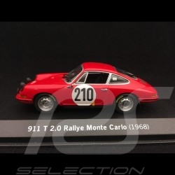 Porsche 911 2.0 T n° 210 Elford vainqueur winner sieger Rallye Monte Carlo 1968 1/43 Minichamps WAPC20SET01