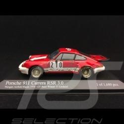 Porsche 911 3.0 Carrera RSR n° 210 Lista Vainqueur Winner Sieger GT Mengen Airfield races 1974 1/43 Minichamps 430746910