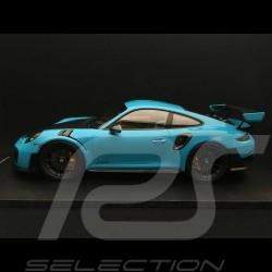Porsche 911 GT2 RS 991 2018 bleu Miami / carbone Miami blue / carbon Miamiblau / kohlenstoff 1/18 Spark 18S281