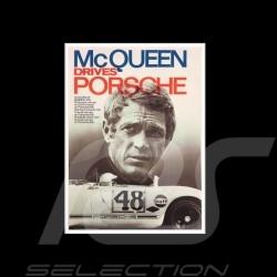 Toile imprimée McQueen drives Porsche avec Porsche 908 Gulf