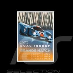 Toile imprimée Porsche 917K Gulf 1000 km BOAC Brands Hatch
