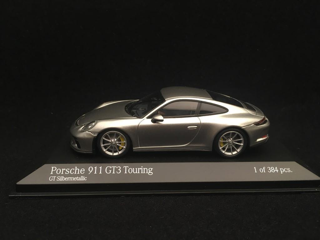 Porsche 911 Gt3 Touring 991 Ph Ii Silver Grey 2018 1 43 Minichamps 410067422 Selection Rs