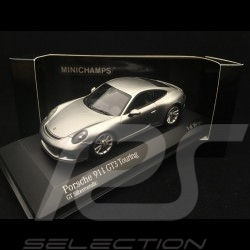 Porsche 911 GT3 Touring 991 ph II silver grey 2018 1/43 Minichamps 410067422
