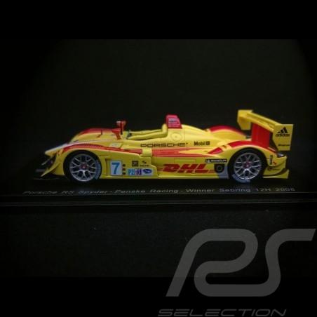 Porsche RS Spyder n° 7 Penske Racing Vainqueur Winner Sieger 12h Sebring 2008 1/43 Spark 43SE08