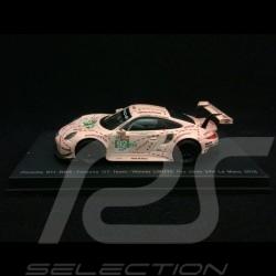 Porsche 911 type 991 RSR n° 92 Cochon rose Vainqueur 24H Le Mans 2018 1/64 Spark Y122
