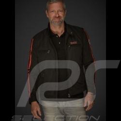 Veste Jacket Jacke Gulf Racing noir black schwarz / orange - homme