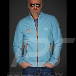 Veste Gulf zippée molleton Collectors Edition bleu gulf jacket Jacke fleece blu blau homme