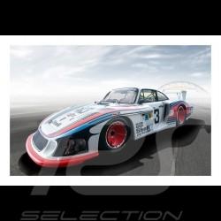 """Porsche 935 """"Moby dick"""" Martini Racing Le Mans 1978 plakat 29.7cm x 42cm"""