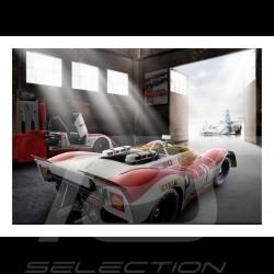 Old garage with Porsche 908 /02 n° 1 Nürburgring 1969 poster 83.8cm x 59cm
