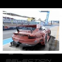 """Porsche 911 RSR """"Pink pig"""" poster 29.7cm x 42cm"""