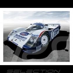 Porsche 962C n° 1 Rothmans racing plakat 29.7cm x 42cm