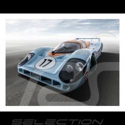 Poster Plakat Porsche 917L n° 17 Gulf  29.7cm x 42cm