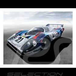 Porsche 917L n° 17 Gulf plakat 29.7cm x 42cm