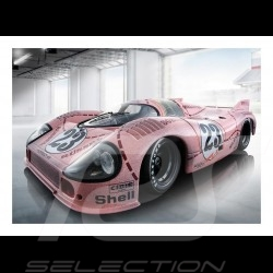 """Poster Plakat Porsche 917 n° 23 """"Cochon rose"""" """"pink pig"""" """"rosa sau""""finish line  29.7cm x 42cm"""