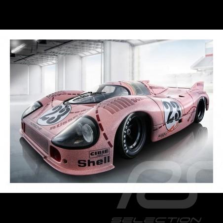 """Porsche 917 n° 23 """"Rosa sau"""" finish line plakat 83.8cm x 59cm"""