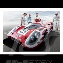 Poster Plakat Porsche 917K Vainqueur Winner Sieger Le Mans 70  29.7cm x 42cm