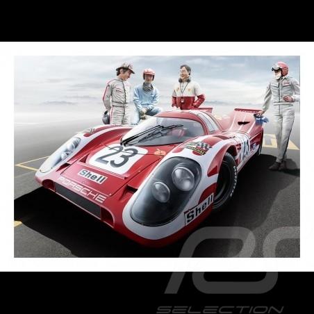 Porsche 917K Winner Le Mans 70 poster 29.7cm x 42cm