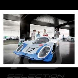 Poster Porsche 917LH n° 12 Le Mans 1969 29.7cm x 42cm