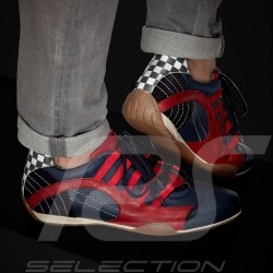 Sneaker / basket shoes Style race driver Navy blue / red - men