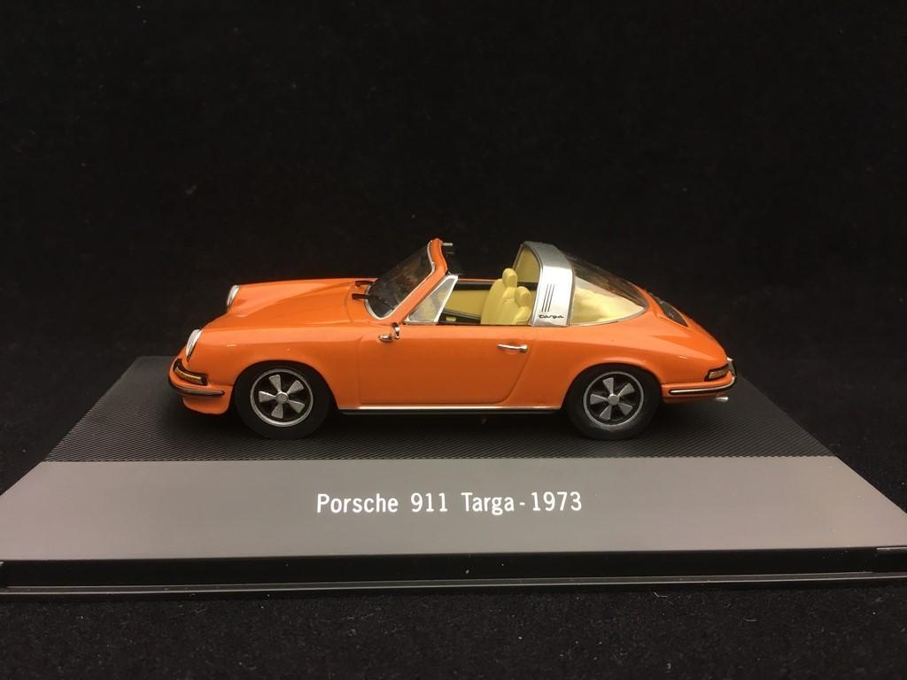 Porsche 911 Targa orange 1973 Modellauto Atlas 1:43