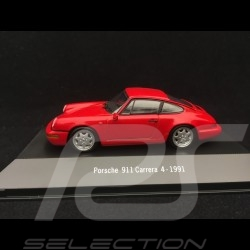 Porsche 911 Carrera 4 1991 red 1/43 Atlas 7114003