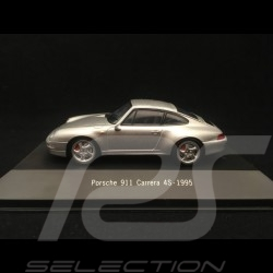 Porsche 911 type 993 Carrera 4S 1995 gris argent 1/43 Atlas 7114009