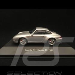 Porsche 911 type 993 Carrera 4S 1995 silver grey 1/43 Atlas 7114009