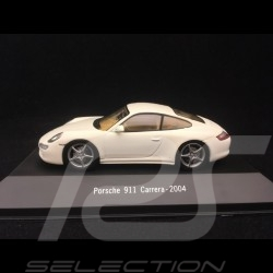 Porsche 911 Carrera 2004 white 1/43 Atlas 7114014
