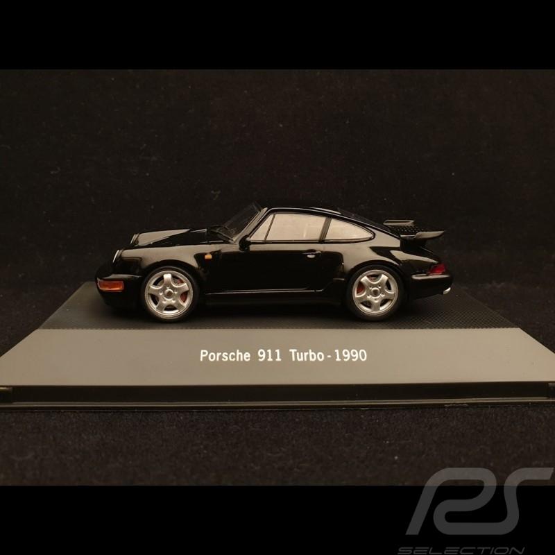 Porsche 911 type 964 Turbo 1990 black 1/43 Atlas 7114025