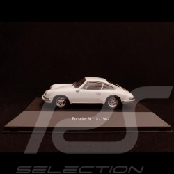 Porsche 911 S 1967 white 1/43 Atlas 7114024