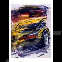 Porsche 911 Typ 993 Pirelli VIP Reproduktion eines Originalgemäldes von Uli Hack