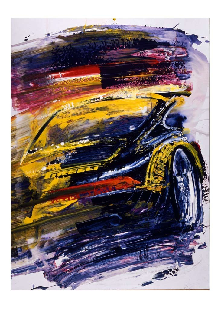 Porsche 911 Type 993 Pirelli Vip Reproduction Of An Uli Hack Original Painting Selection Rs