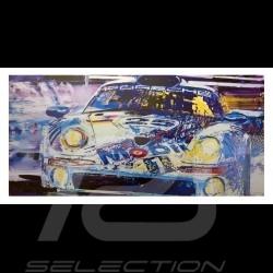 Porsche 911 GT1 24h Le Mans 1998 Reproduktion eines Originalgemäldes von Uli Hack