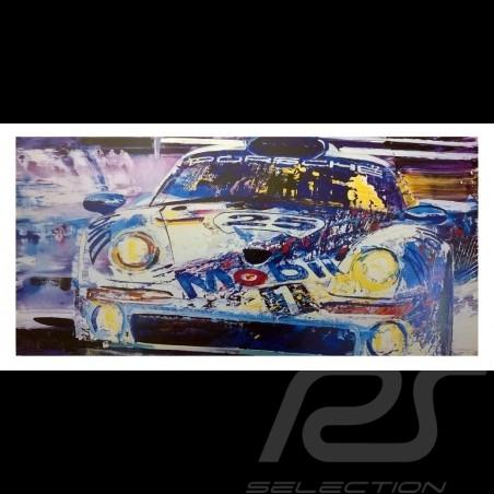 Porsche 911 GT1 24h Le Mans 1998 Reproduction d'une peinture originale de Uli Hack