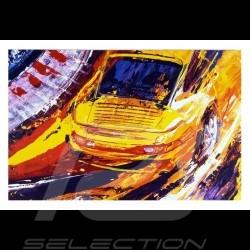 Porsche 911 Turbo yellow Reproduction of an Uli Hack original painting
