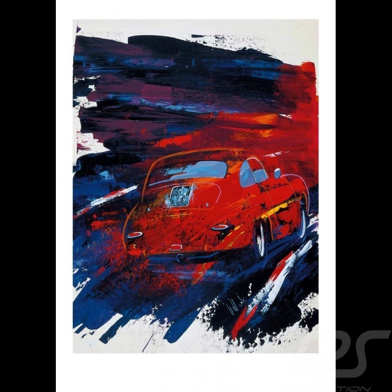 Porsche 356 red Reproduction of an Uli Hack original painting