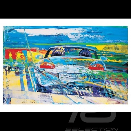 Porsche Boxster type 986 Silver Reproduction of an Uli Hack original painting