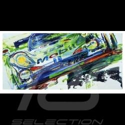 Porsche 911 GT1 Winner 24h Le Mans 1998 Reproduction of an Uli Hack original painting
