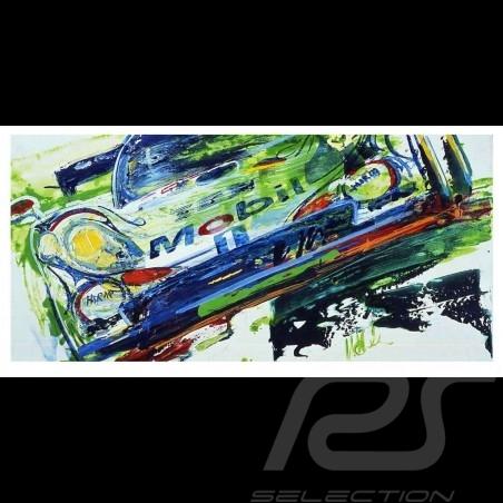 Porsche 911 GT1 Vainqueur 24h Le Mans 1998 Reproduction d'une peinture originale de Uli Hack